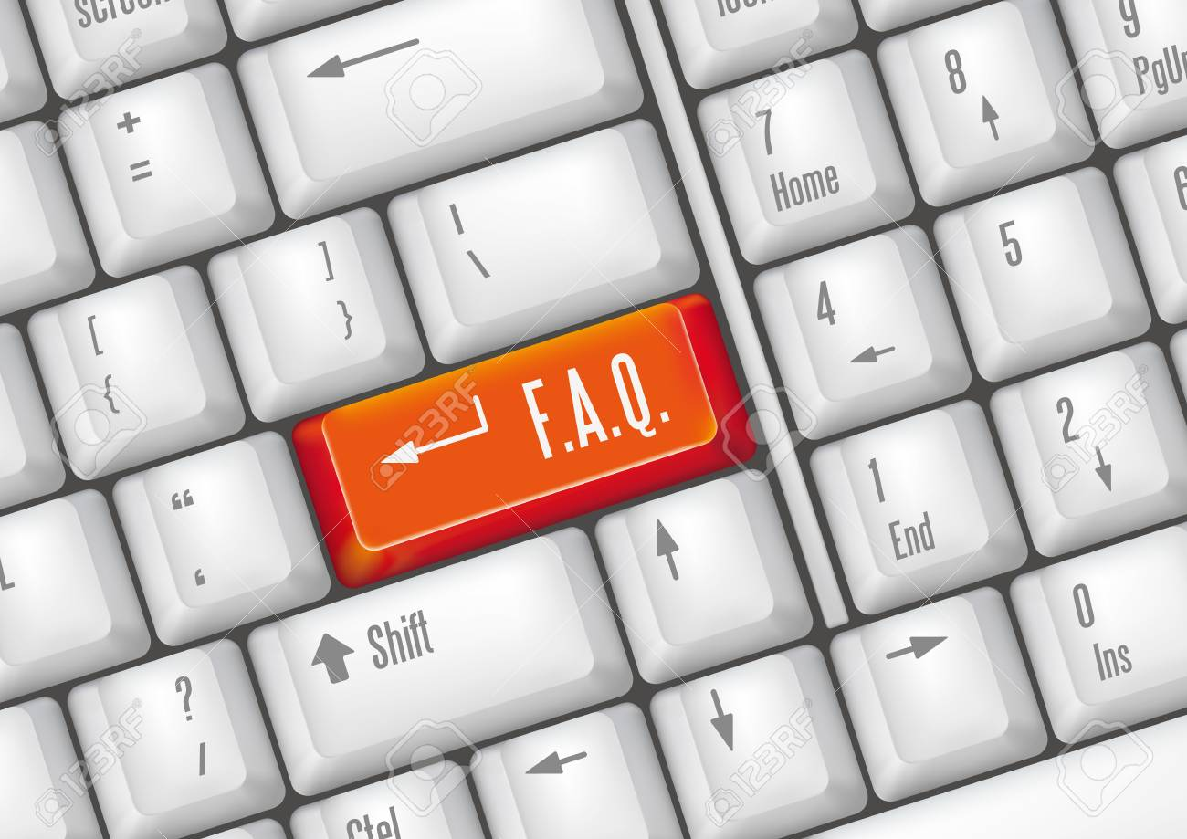 keyboard buttons - FAQ Stock Vector - 7528602