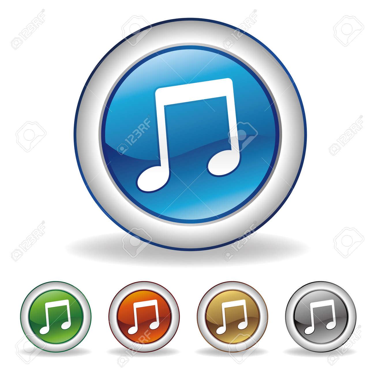 music icon set Stock Vector - 7528506