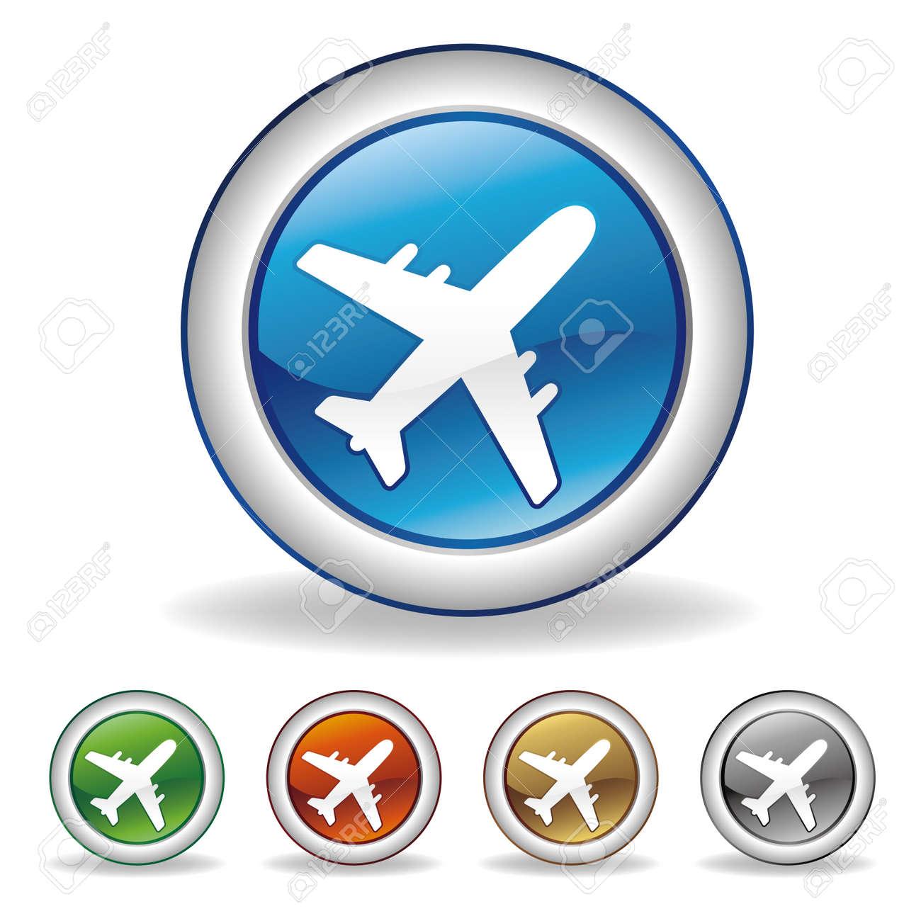 airplane icon Stock Vector - 7558106