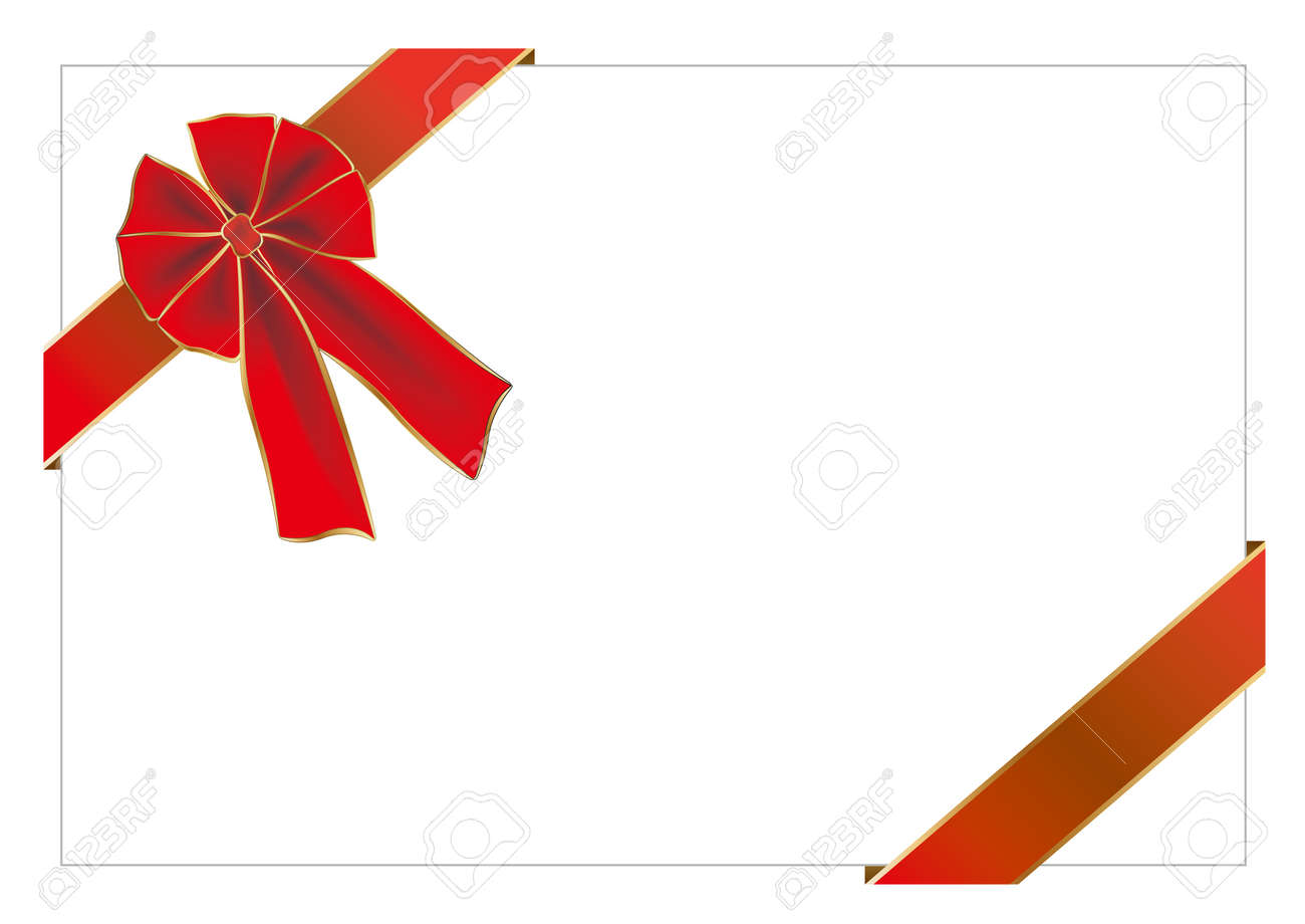 illustration-red gift bow Stock Vector - 7558131