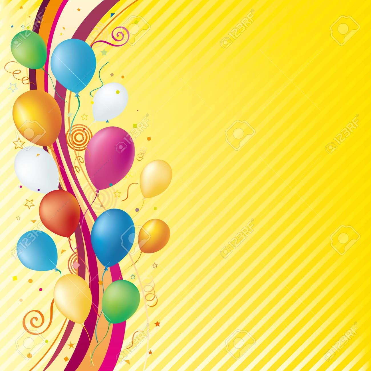 balloons,celebration background Stock Vector - 7580274