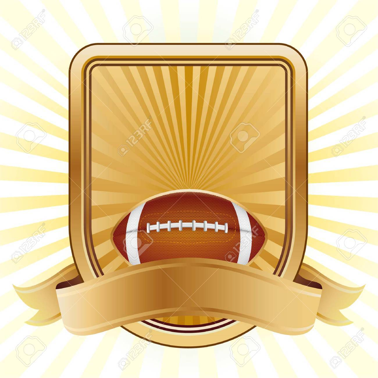 american football,shield,yellow background Stock Vector - 7580324