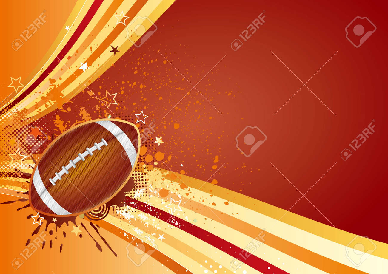 american football sport design element Stock Vector - 7580327