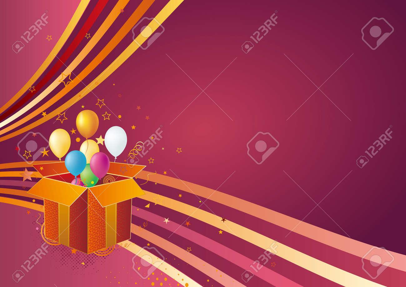 gift box,balloon,celebration background Stock Vector - 7580283