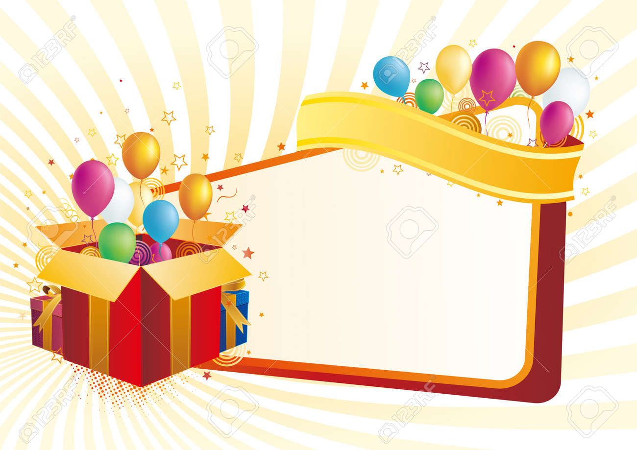 gift box and star  celebration background Stock Vector - 7612793