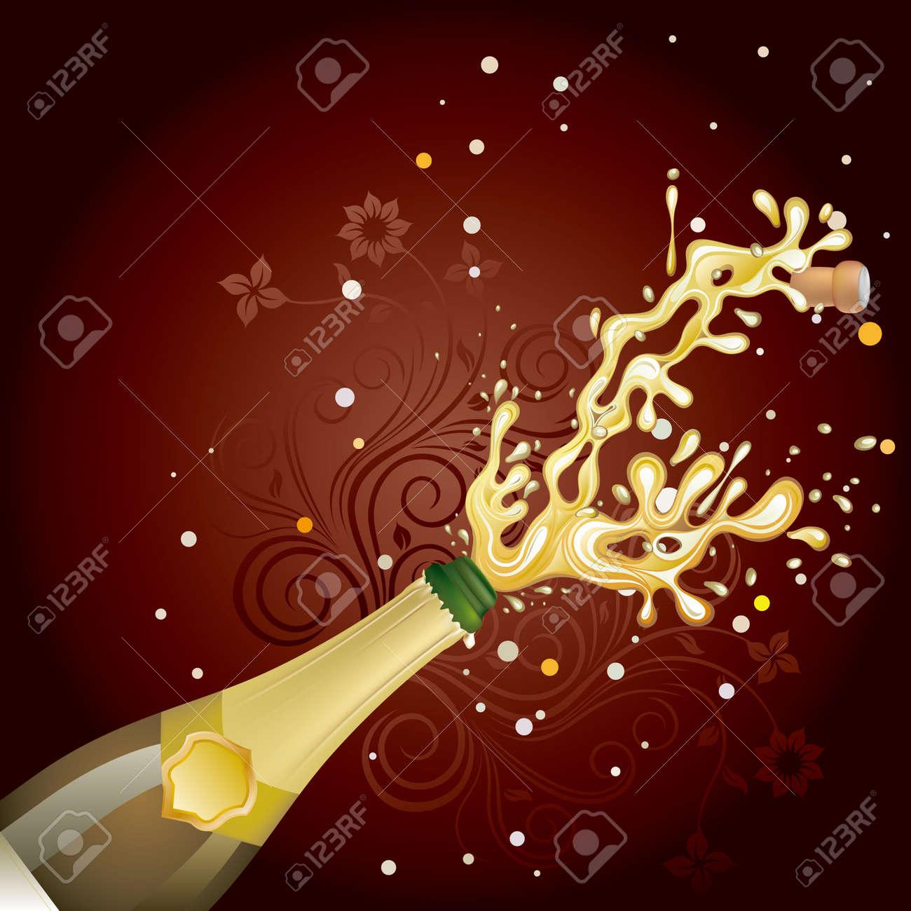 champagne explosion, celebration background Stock Vector - 7725494