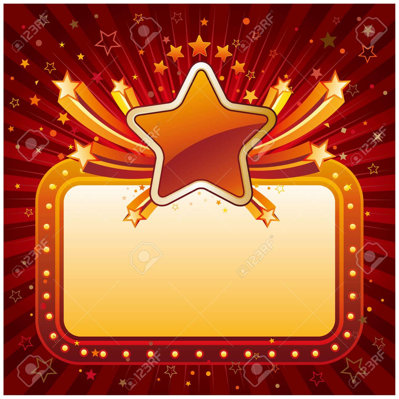 illustration of star banner Stock Vector - 7827023