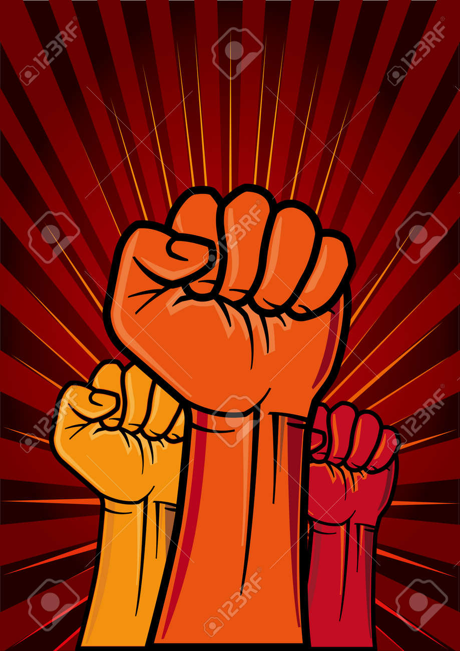 illustration of clenched fist Stock Vector - 7827085