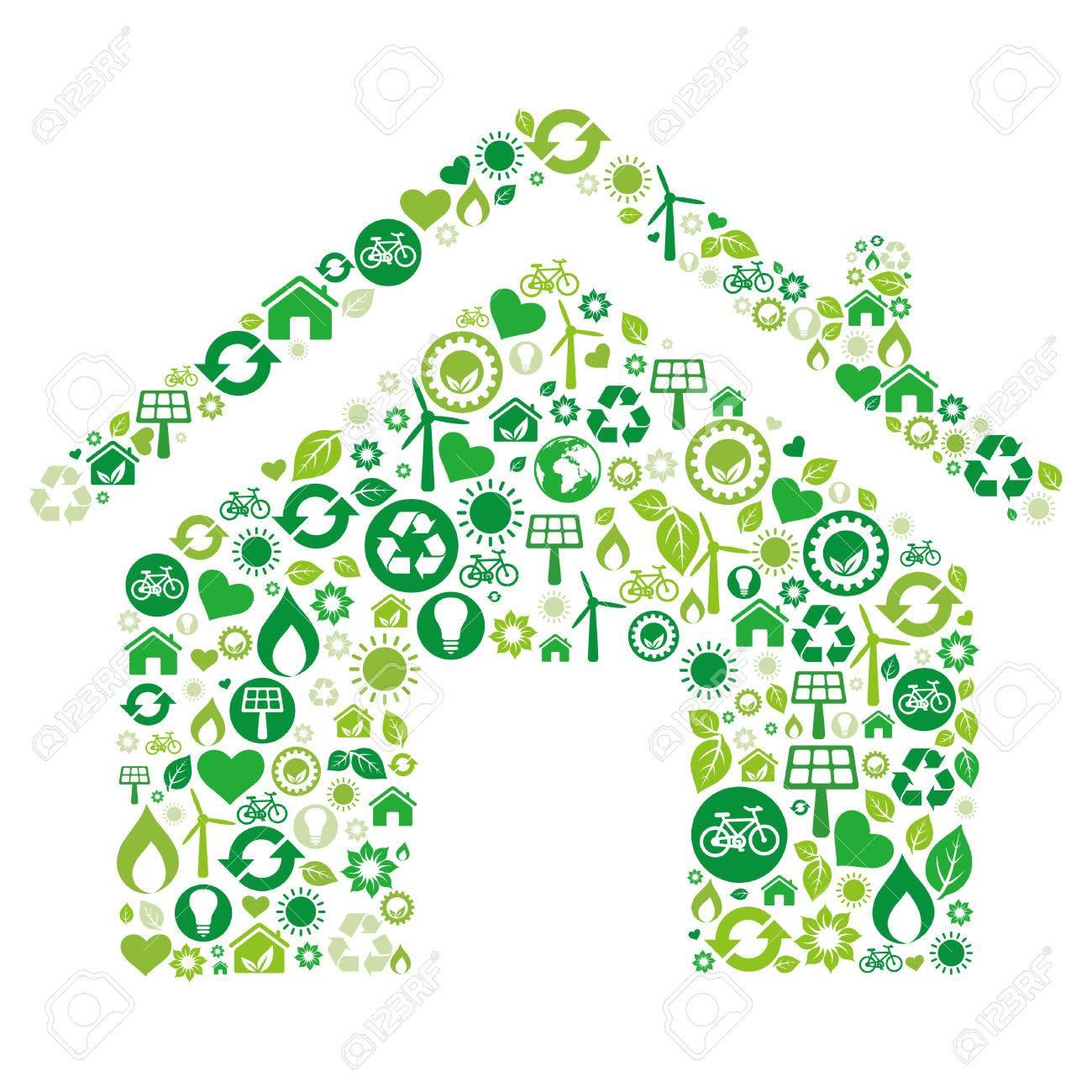 green house illustration,environment icon Stock Vector - 8058089