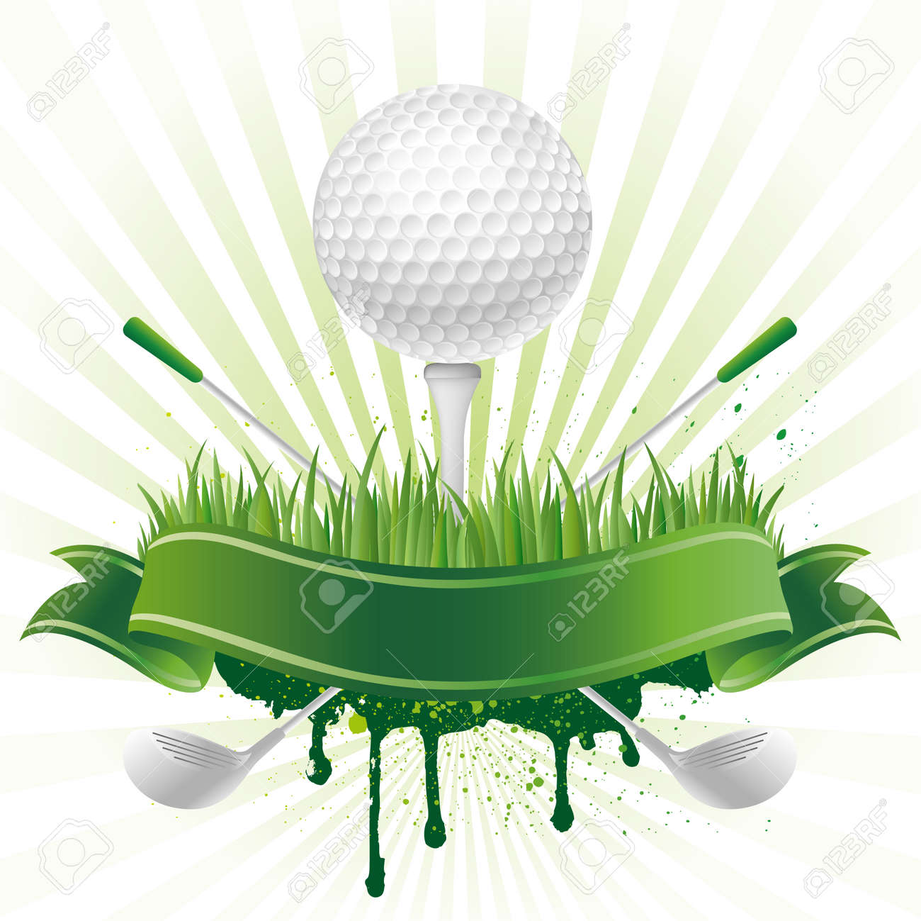 golf sport design element Stock Vector - 8058088