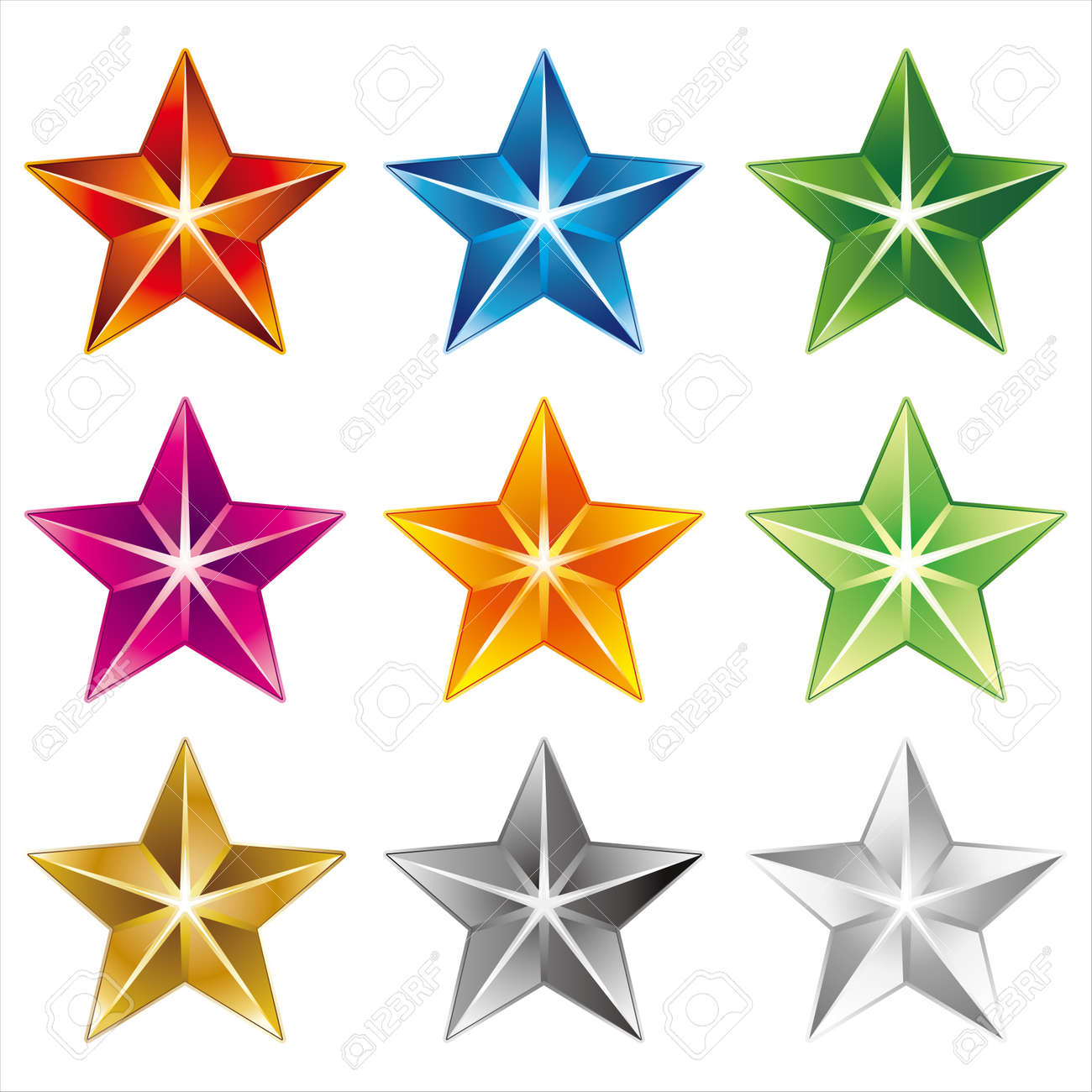 star icon on white background Stock Vector - 8069246