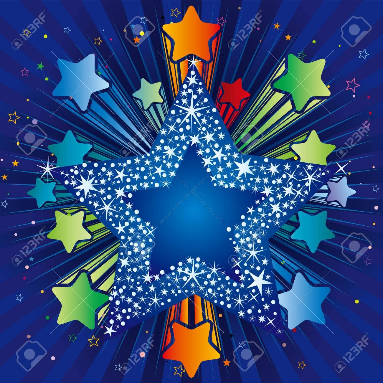 illustration of explosion star Stock Vector - 8121042