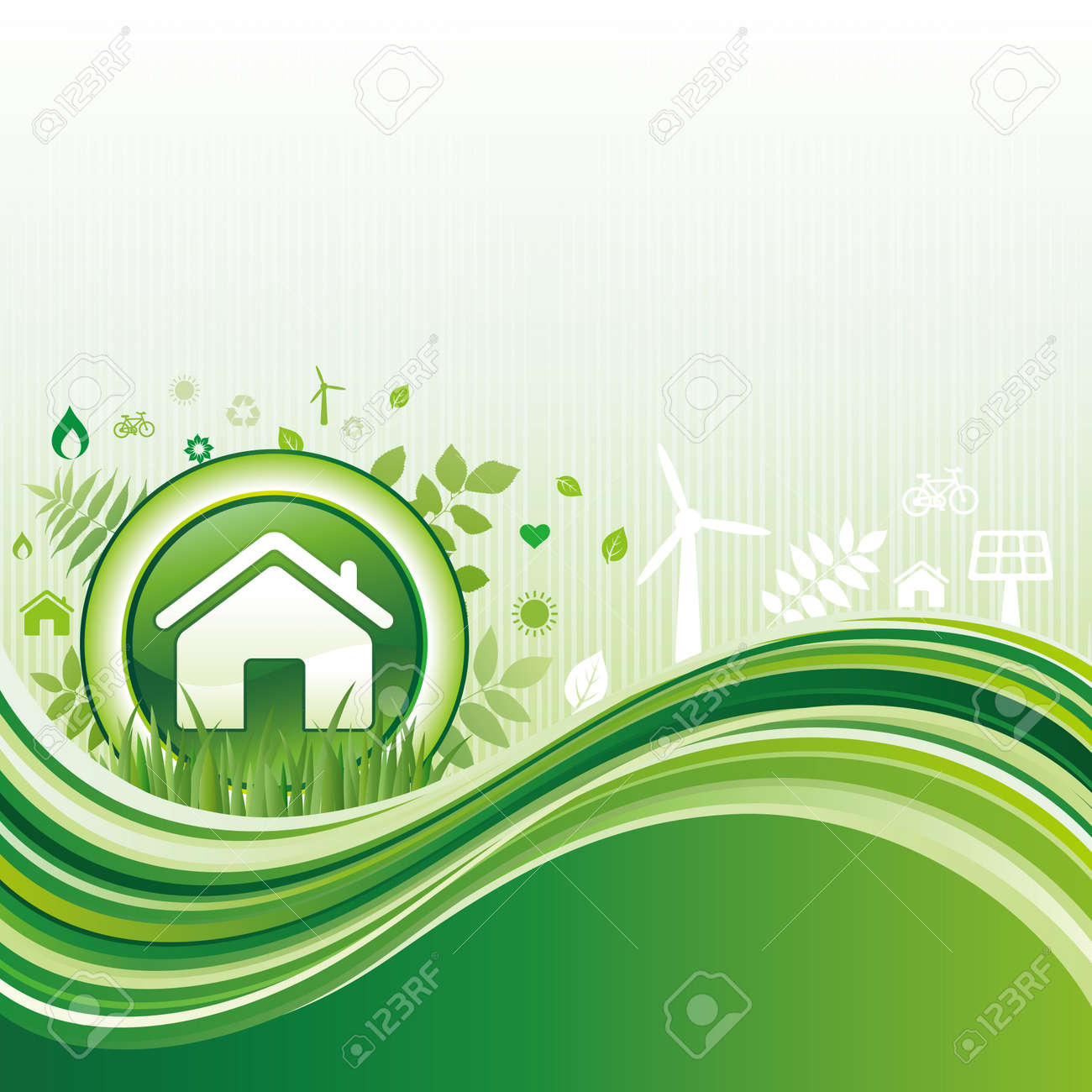 background of environment Stock Vector - 8174100