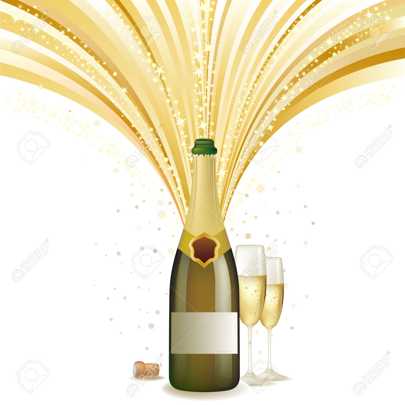 illustration of champagne holiday Stock Vector - 8196115