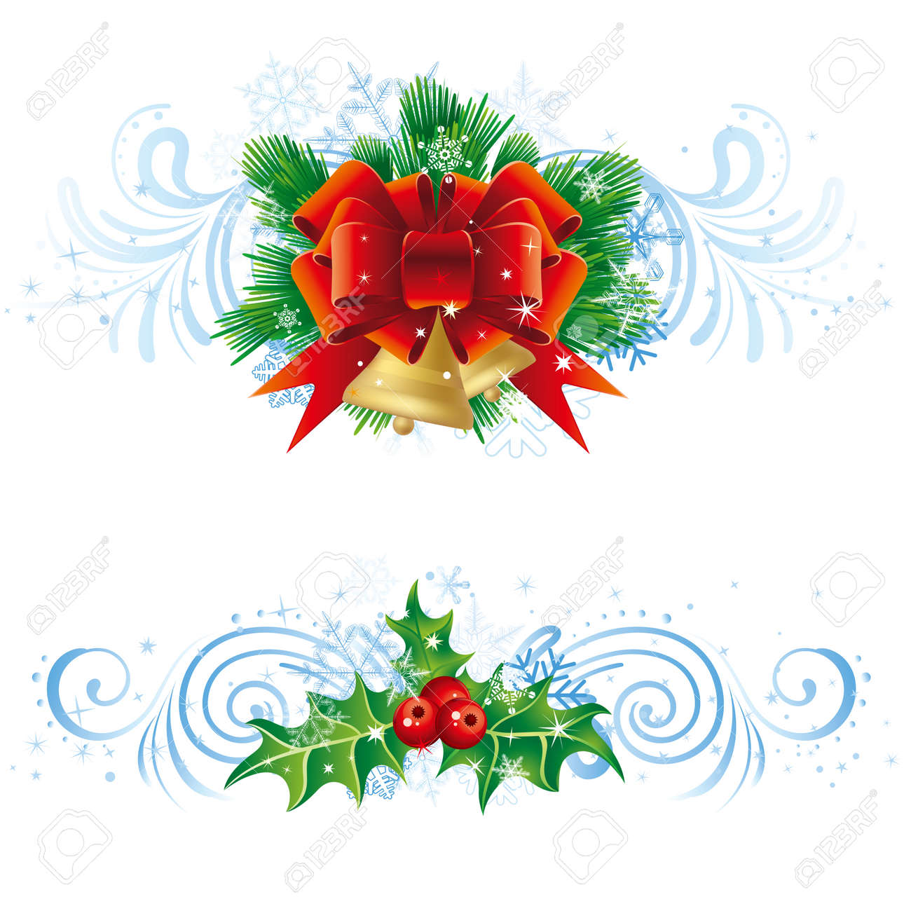 christmas vector design with snowflake decoration Stock Vector - 8456479