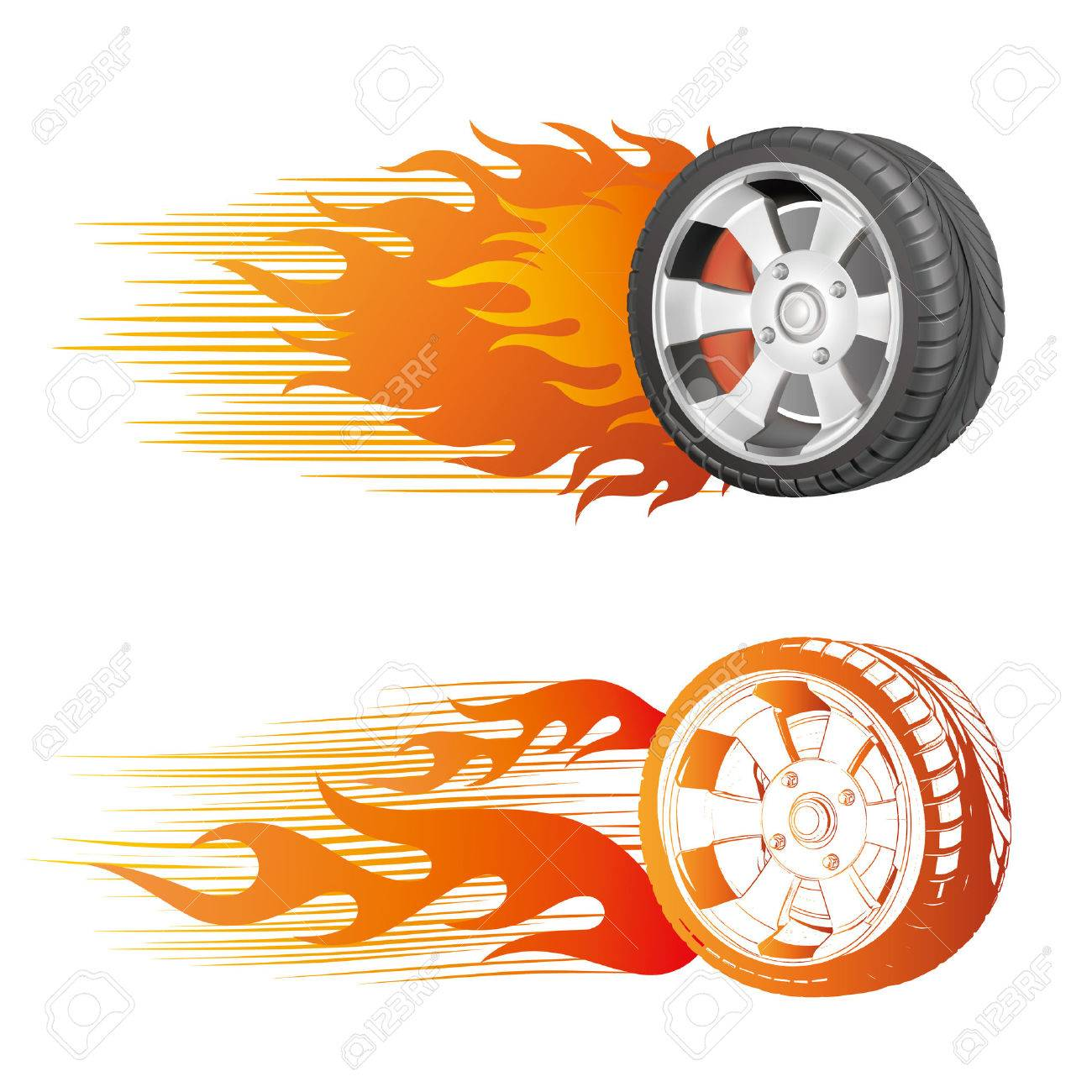 Fiery Racing Tire Royalty Free Cliparts, Vectors, And Stock ... for Racing Tire Vector  177nar