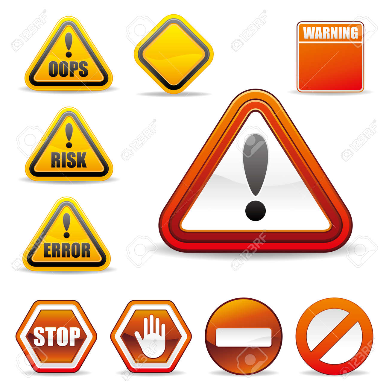 set of warning sign Stock Vector - 8774247