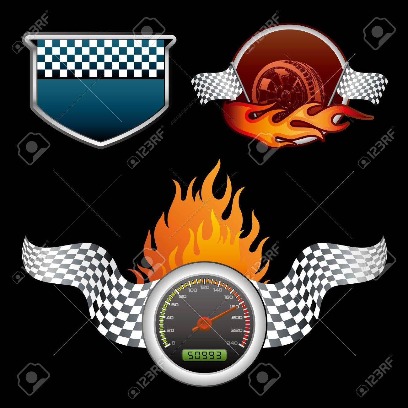 design element for motor racing Stock Vector - 9126528