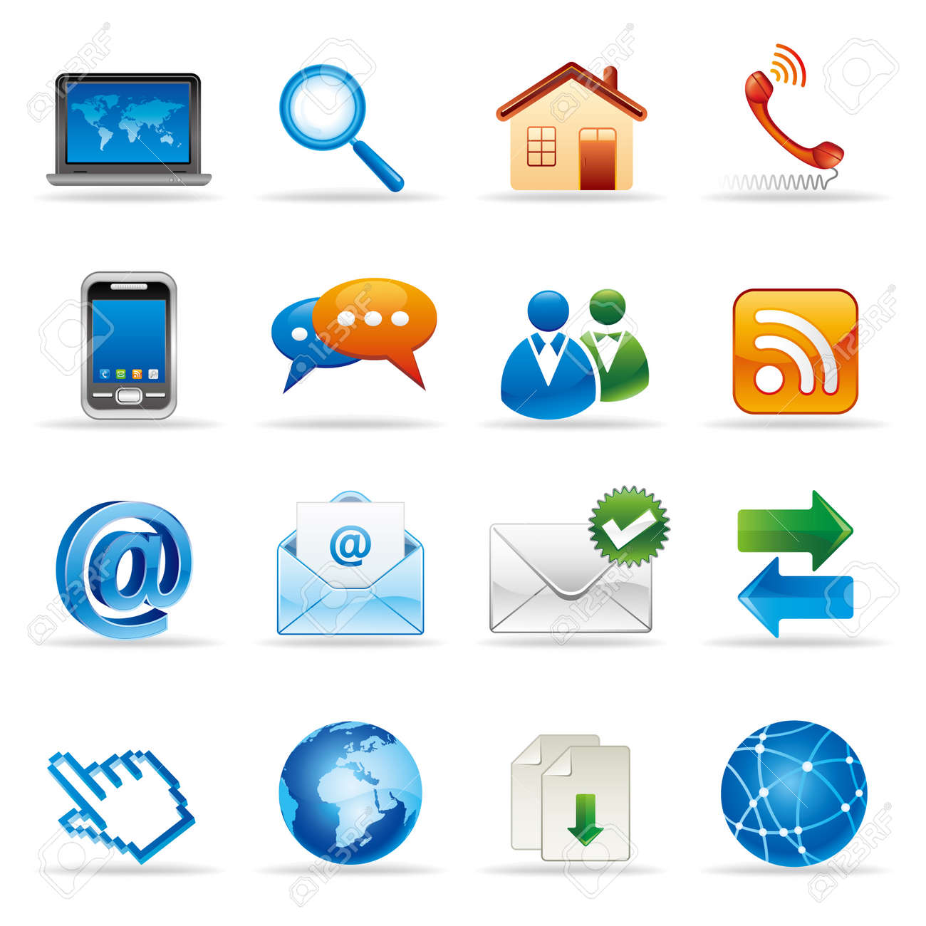 new media and social network icons Stock Vector - 9126530