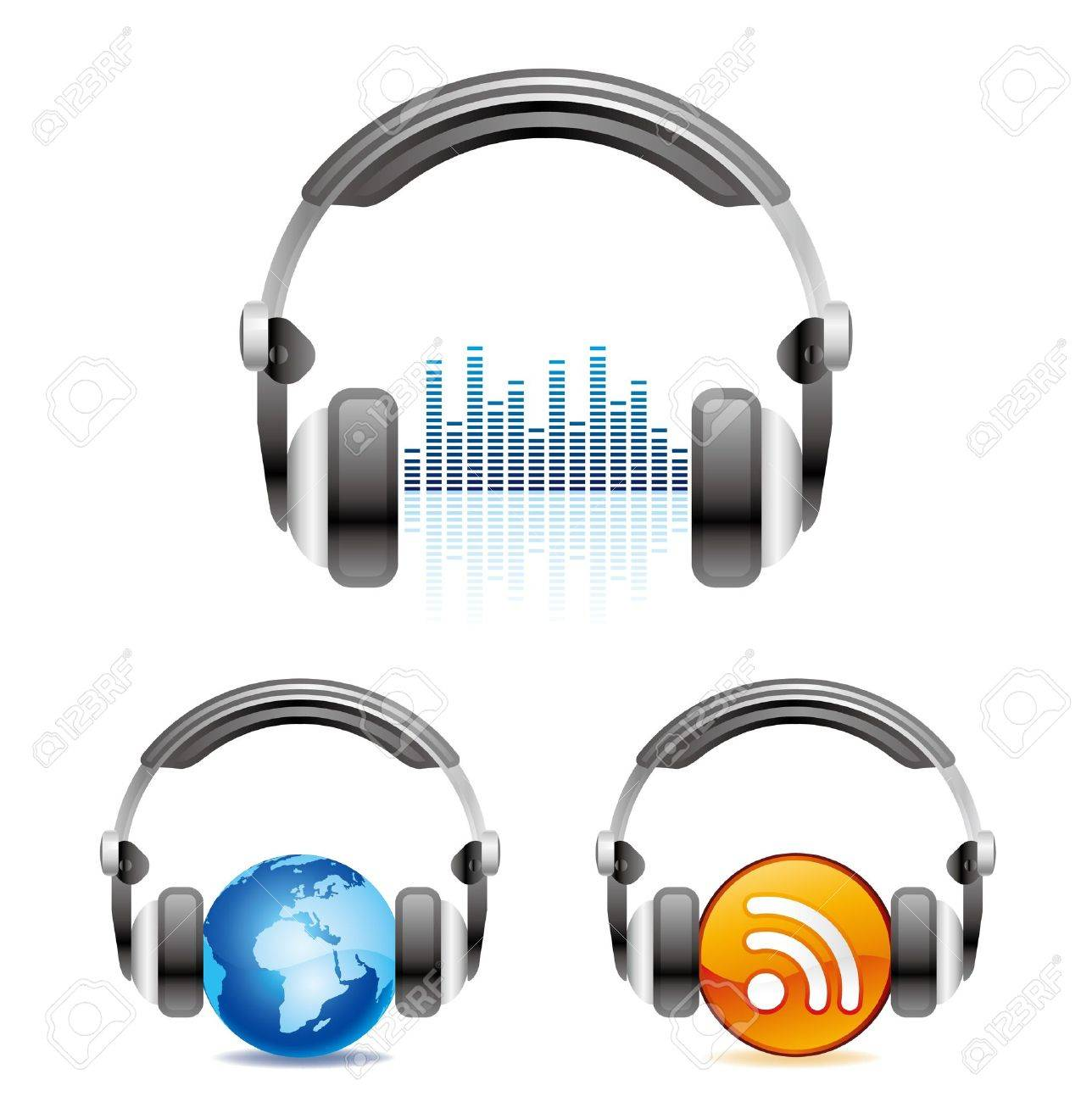 illustration is a headphones icon Stock Vector - 9776416