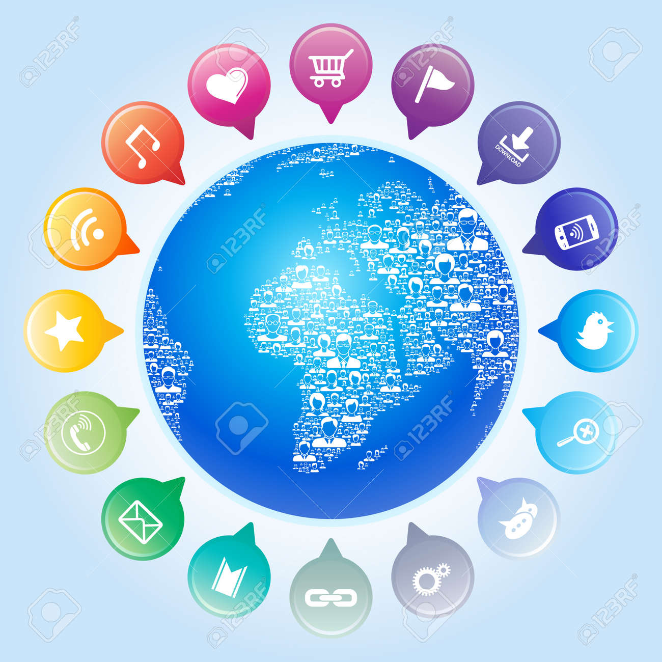 Global communication,Socia l network concept Stock Vector - 22066083