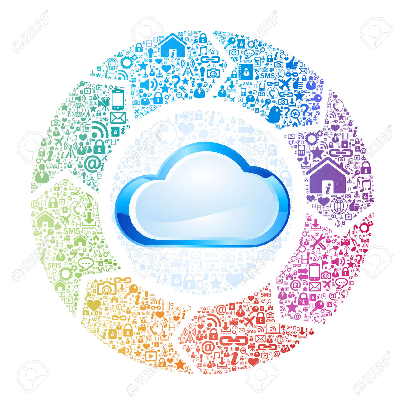 Abstract concept of cloud computing Stock Vector - 22066171