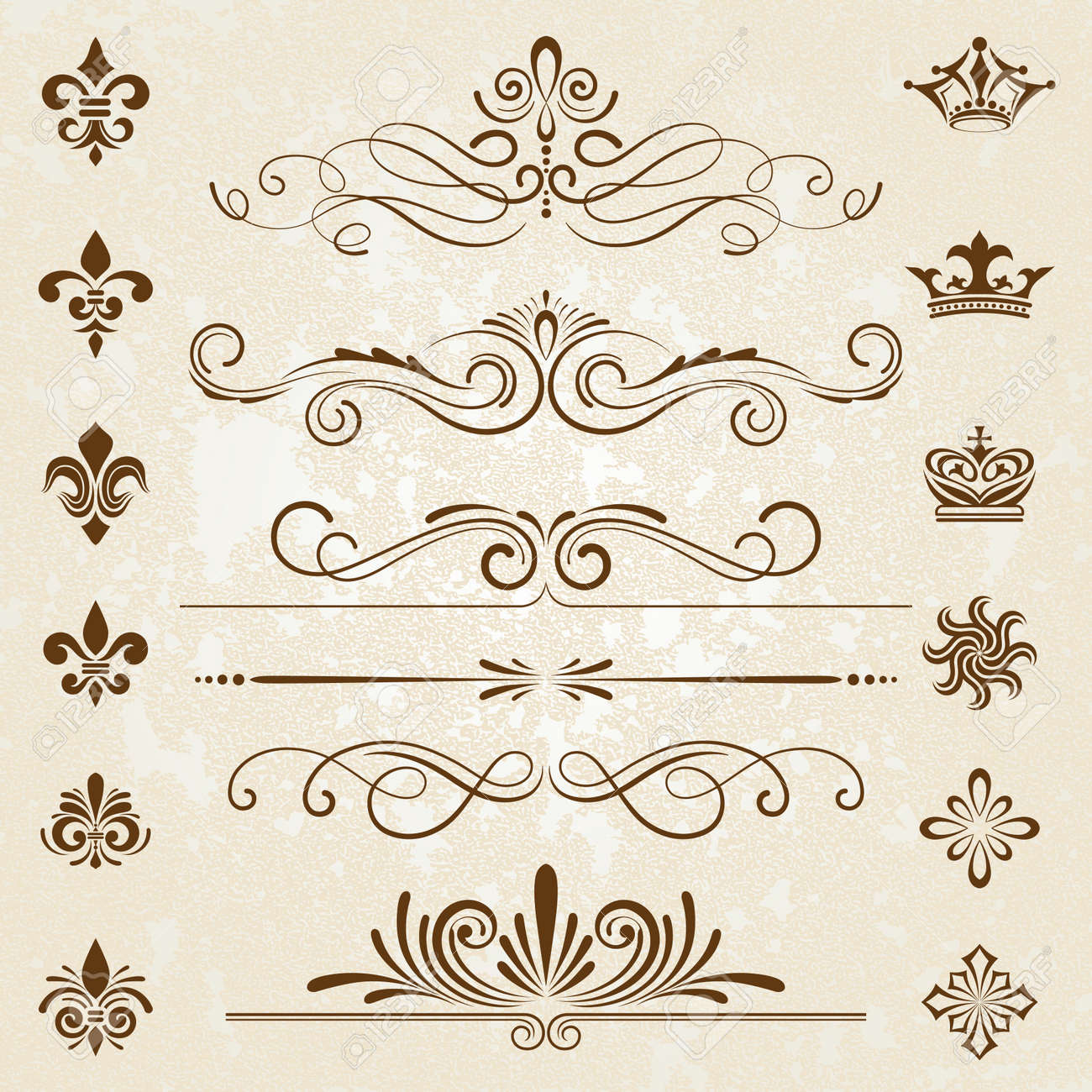 Vintage Decoration Design Elements With Page Decor Stock Vector   22066203