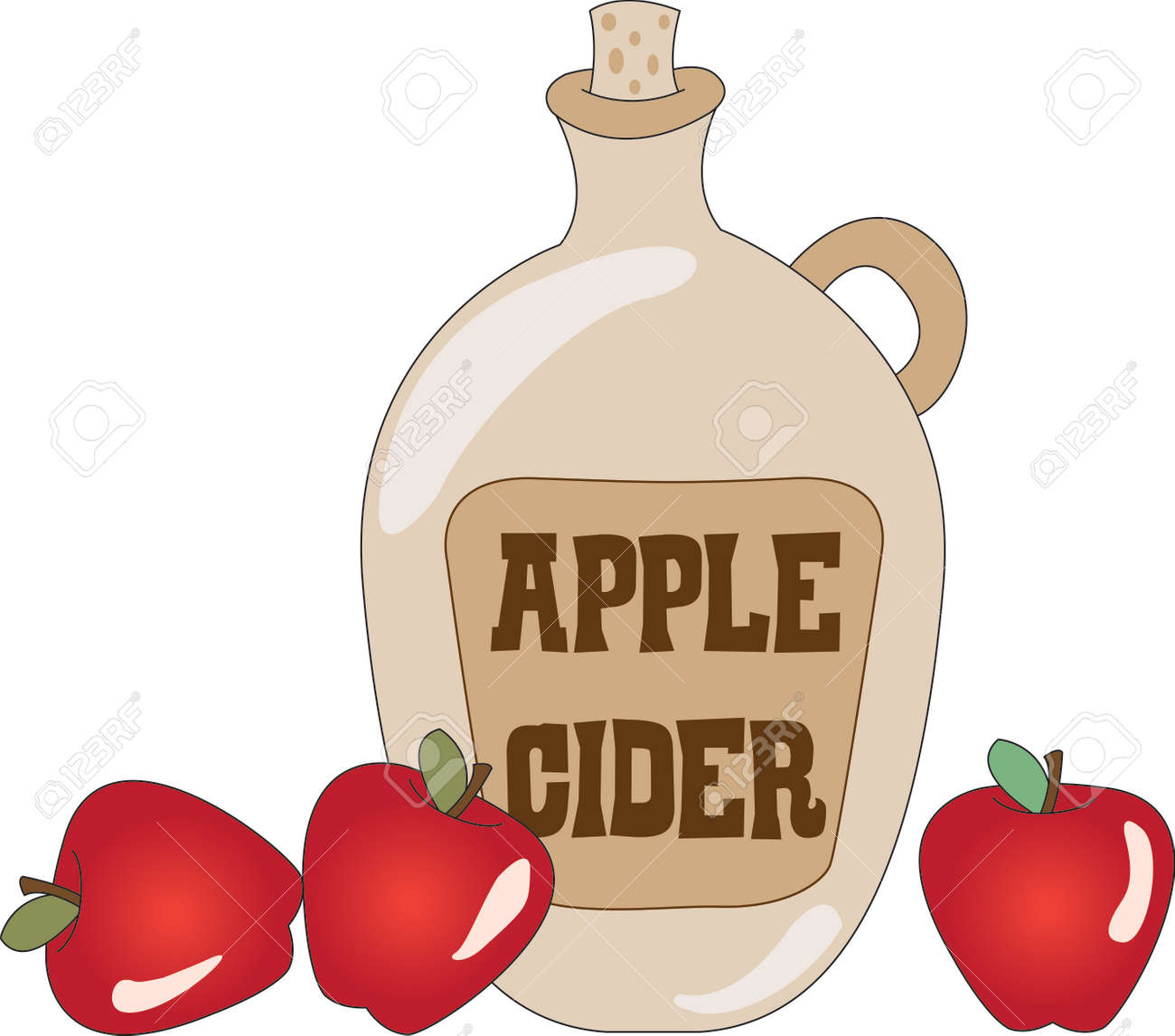 a taste treat in a bottle apple cider a warm treat for cool rh 123rf com Apple Pie Clip Art Apple Pie Clip Art