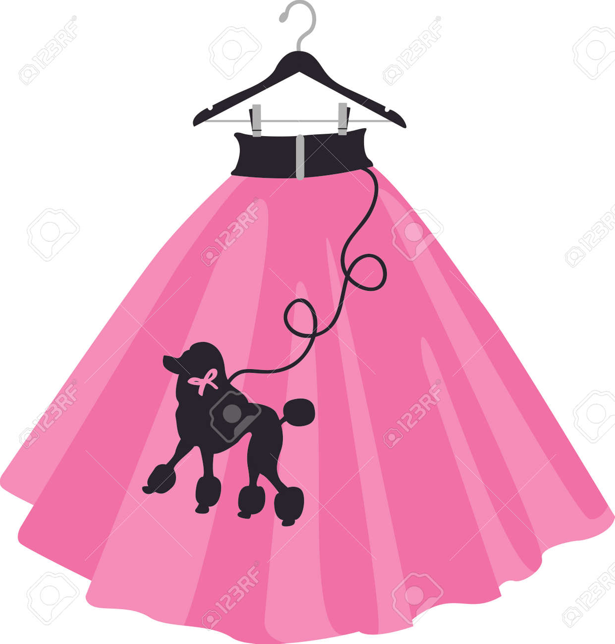 Girls Love Throwback 50s And Wearing Poodle Skirts Royalty Free