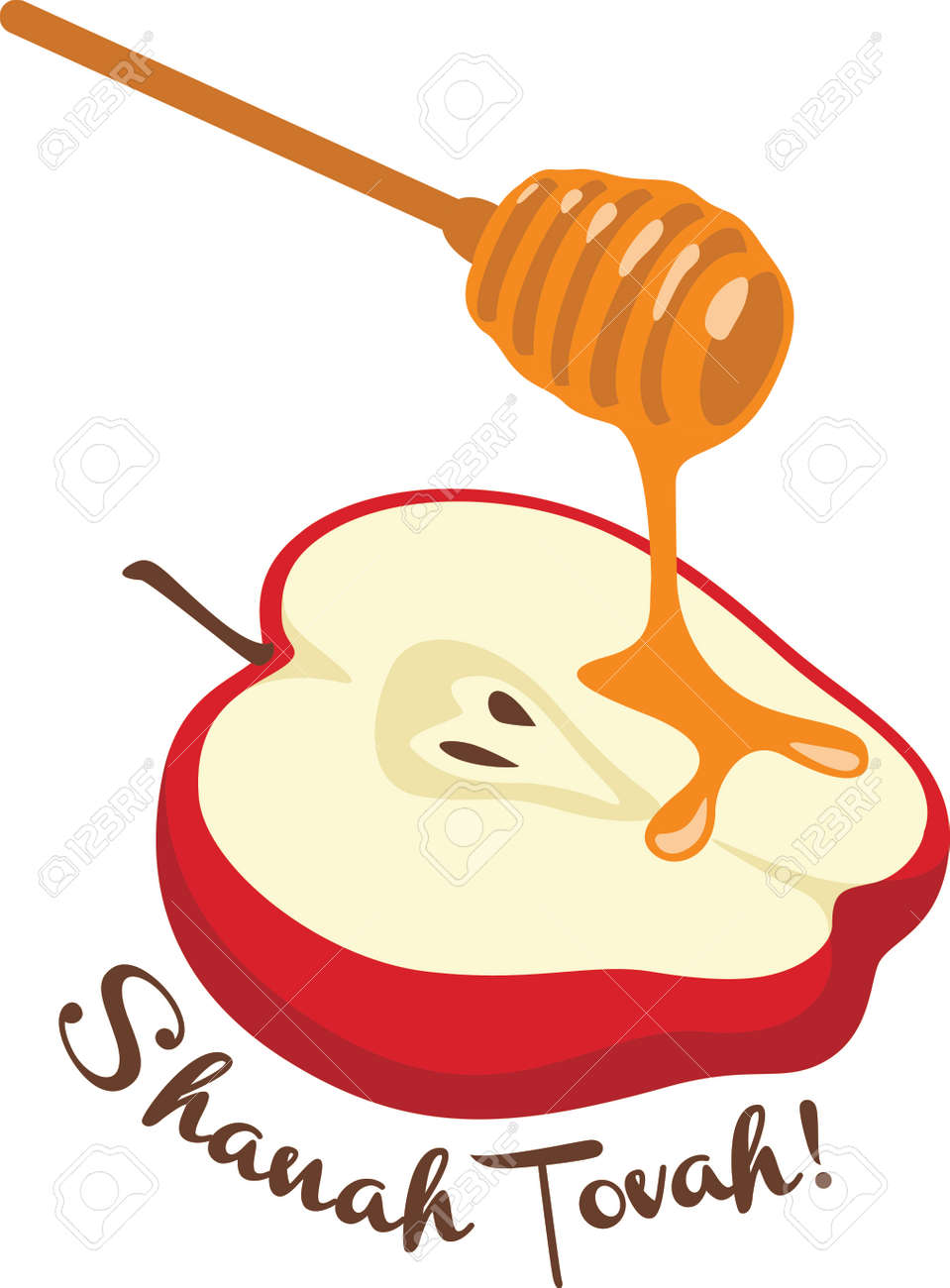 celebrate rosh hashanah with this sweet apple and honey design rh 123rf com clipart rosh hashanah rosh hashanah clipart pictures
