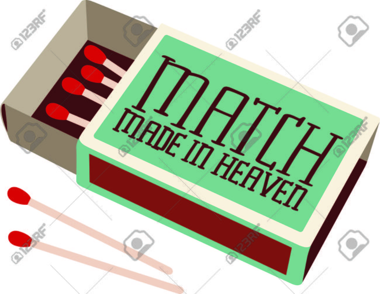 Retro Style Design Decorates This Box Of Wooden Matches. A Cleaver ... for Matches Clip Art  284dqh