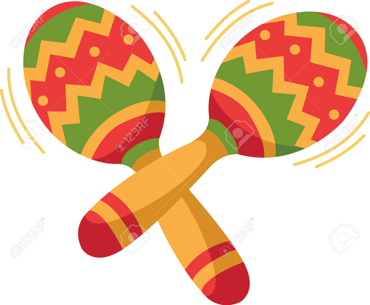 the maracas is the perfect image for your next fiesta royalty free