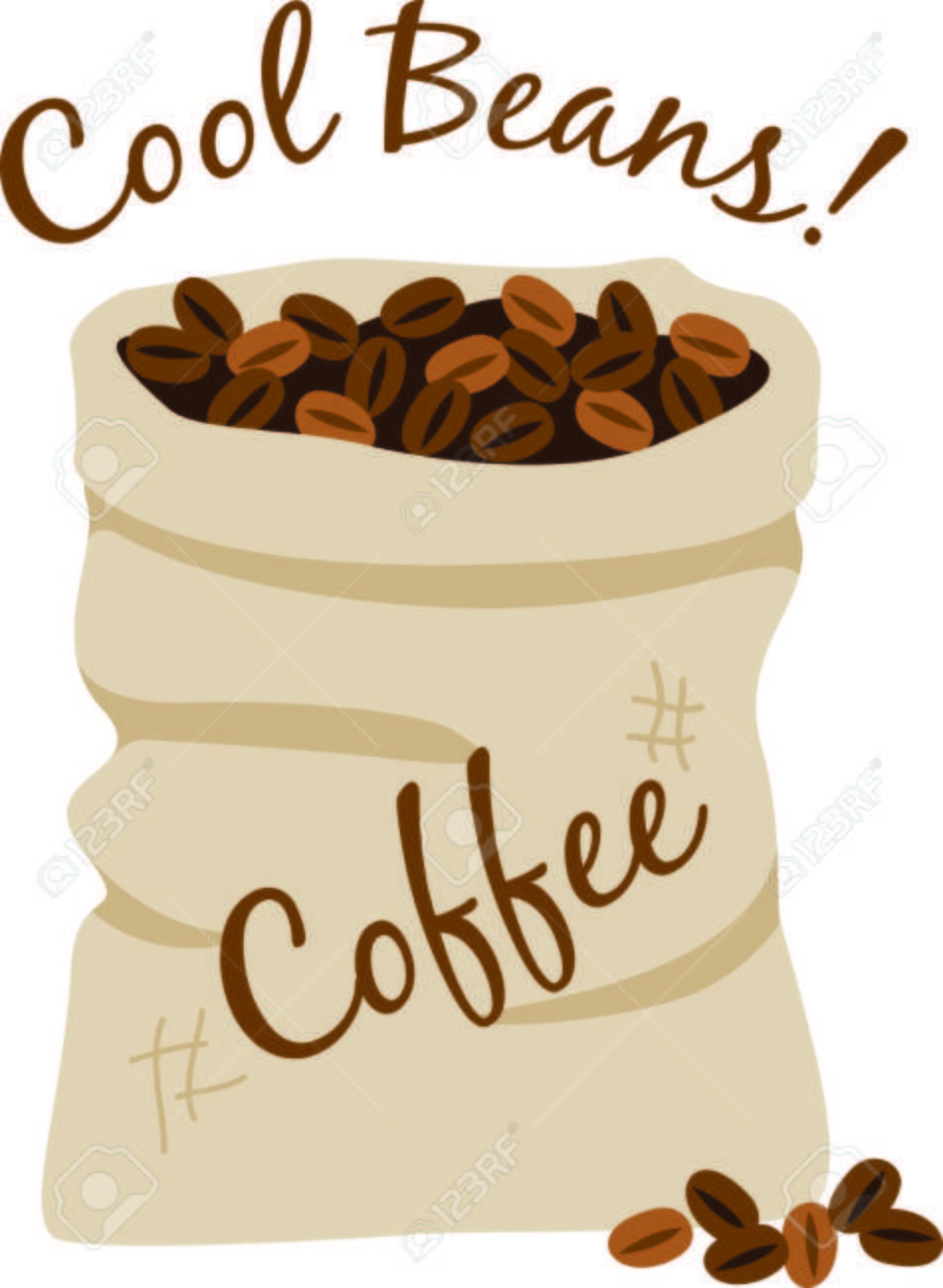 Dieser Sack Kaffeebohnen Ist Ein Hackmesser Dekoration Für ...