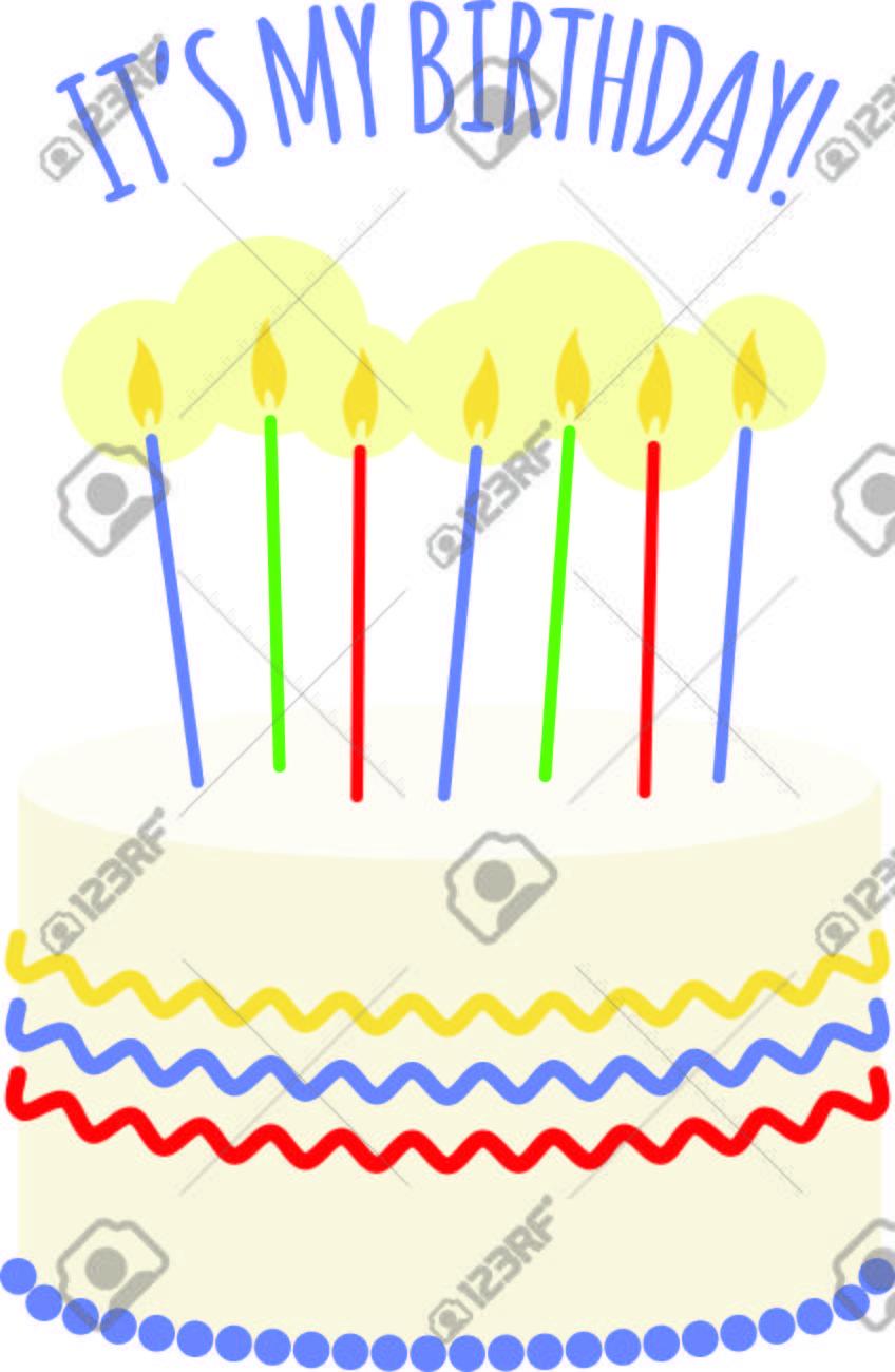 Sagen Sie Alles Gute Zum Geburtstag Mit Dem Perfekten Kuchen. Dieser Schöne  Kuchen Ist Eine