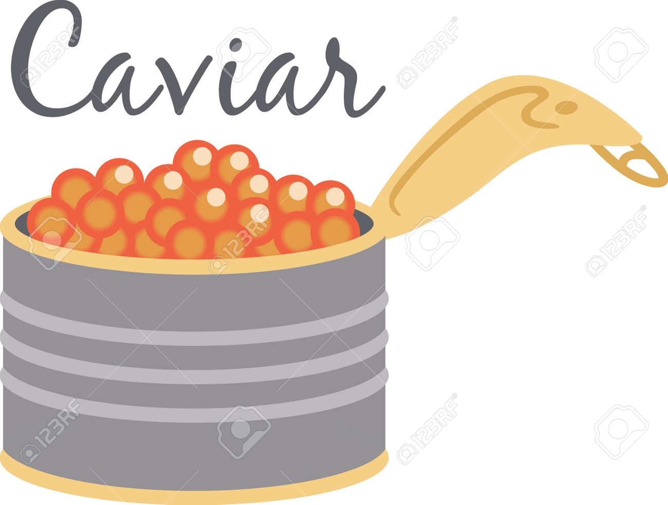 Ein Leckerer Dose Kaviar Schafft Eine Kostlich Auf Partyservietten