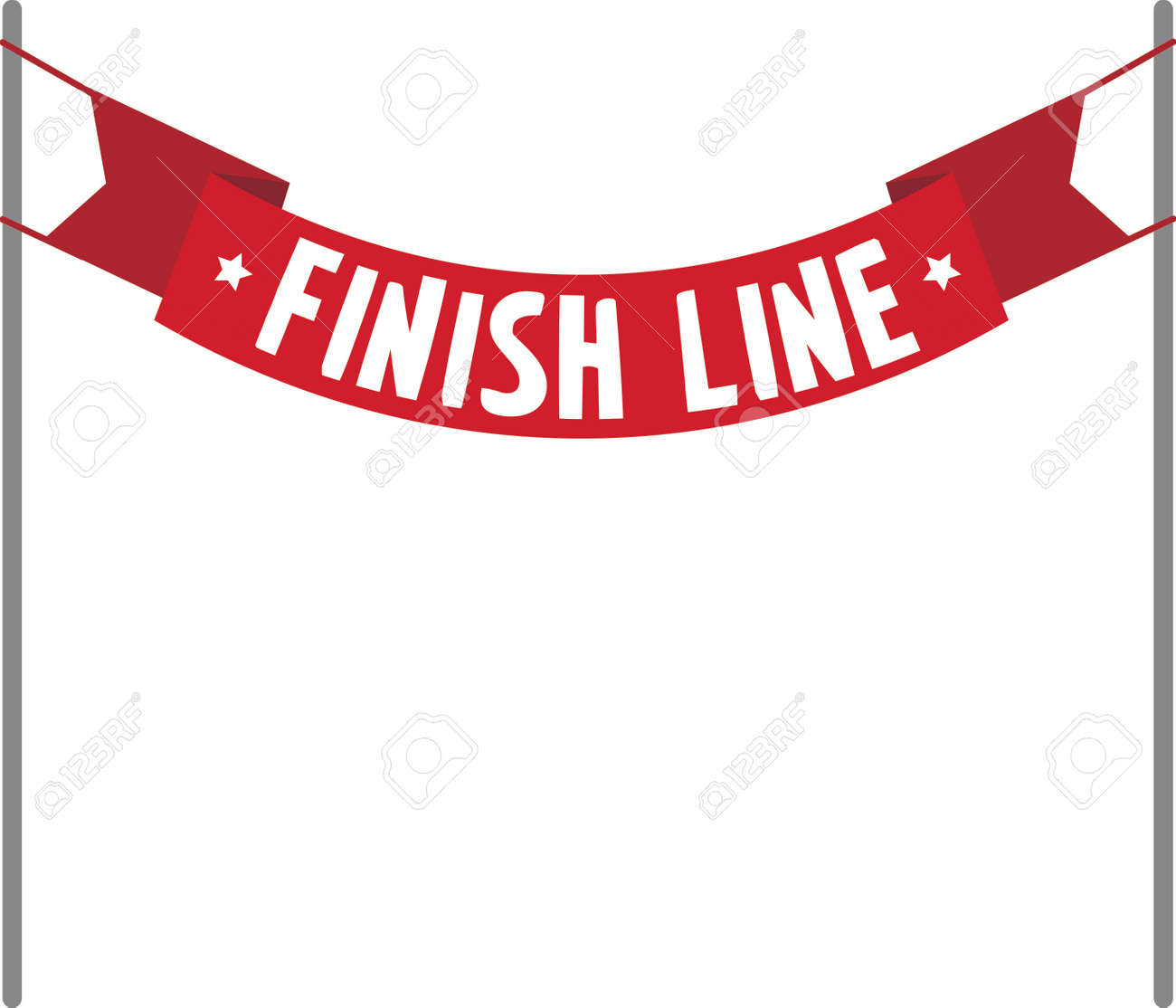 blank caption red finish line banner royalty free cliparts