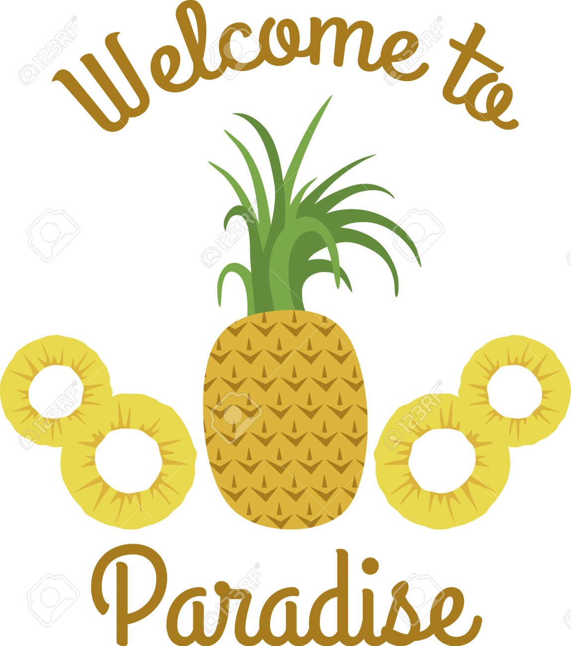 These Pineapples Are A Great Symbol For Hospitality Royalty Free