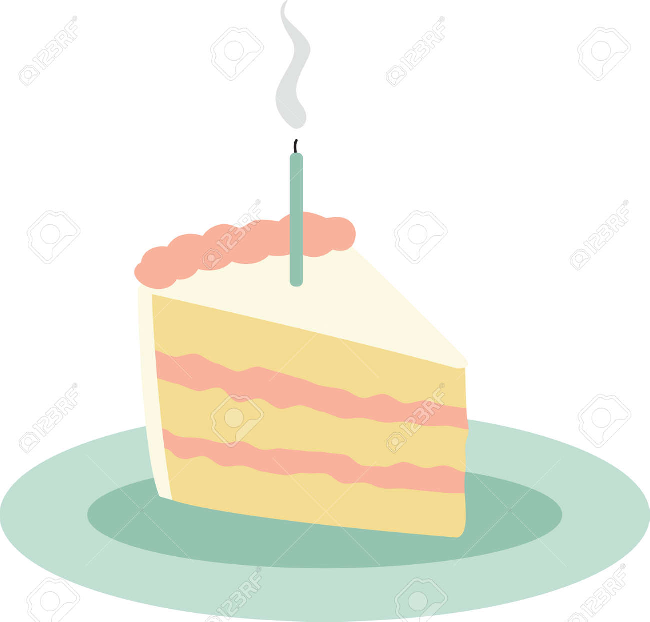 Use This Slice Of Cake For A One Year Olds Birthday Shirt Stock Vector