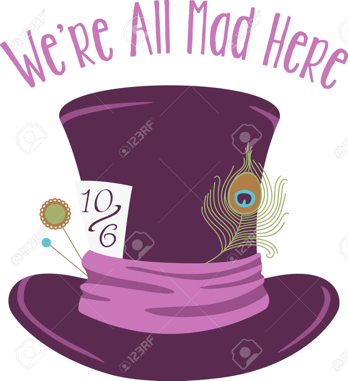 Foto de archivo - Púrpura de terciopelo sombrero de copa listo para el  sombrerero. 4c953e7c75f