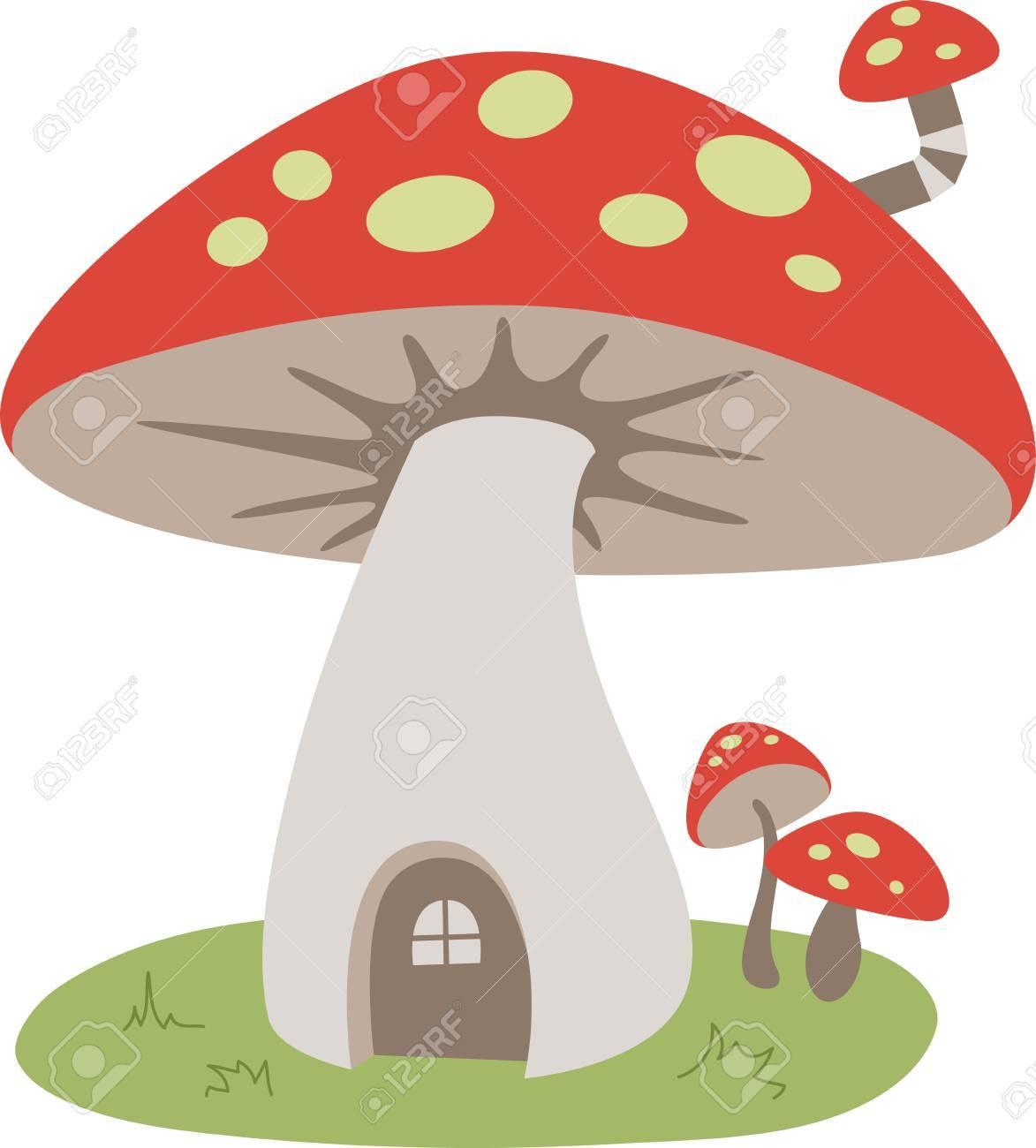 Une jolie maison de champignon est une décoration douce.