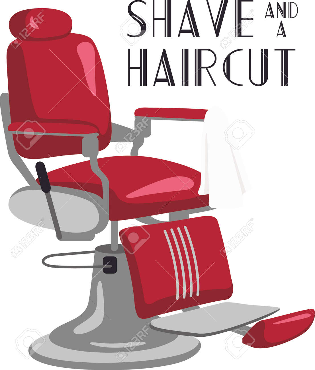 Barber chair vector -