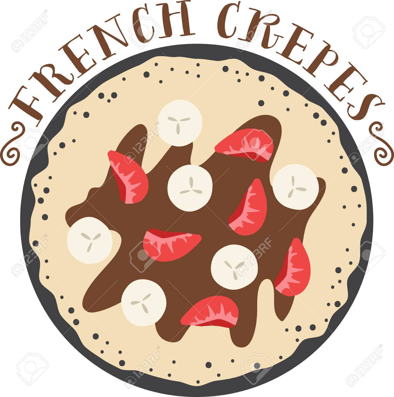 what a cool design of french crepes this would be great on an rh 123rf com Ice Cream French Crepes French Girl Clip Art