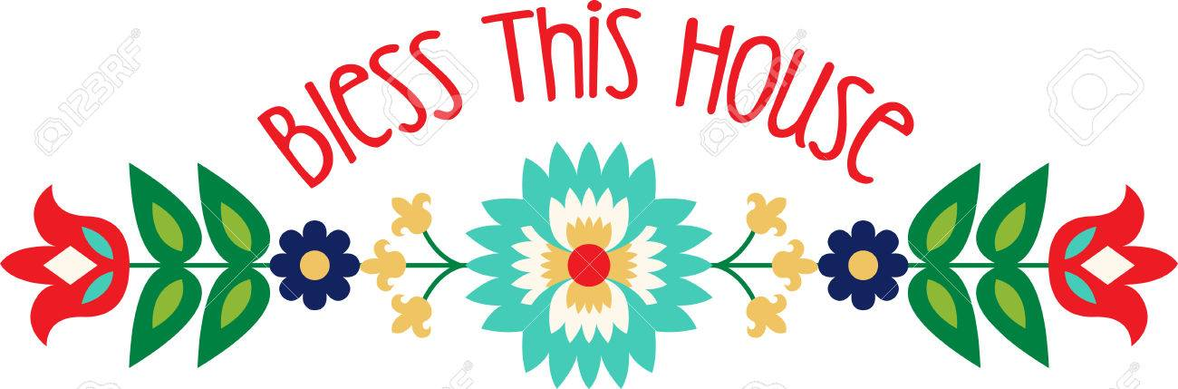 Personalize your project with this lovely Folk Art Flower Border design. This will look great on placemats, hand towels, throw pillows, tote bags and more. - 61845988