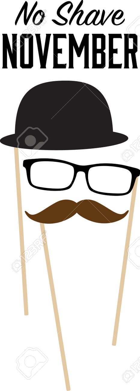 neat shirt designs support no shave november with this neat mustache glasses hat