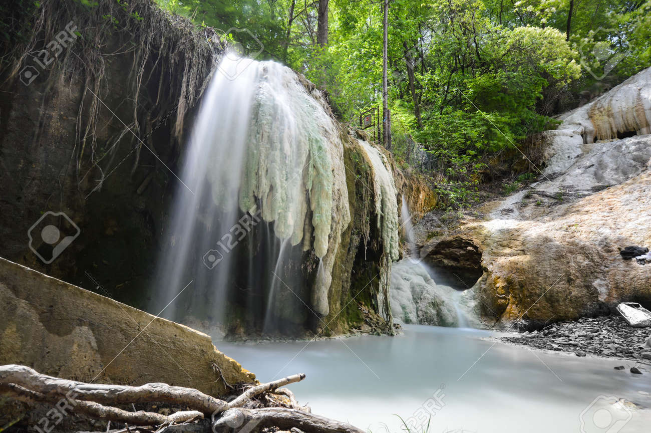Natural Spa, Bagni San Filippo, Tuscany, Italy Stock Photo, Picture ...