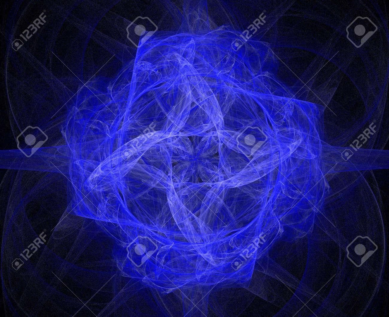 high resolution flame fractal forming a mandala Stock Photo - 476706