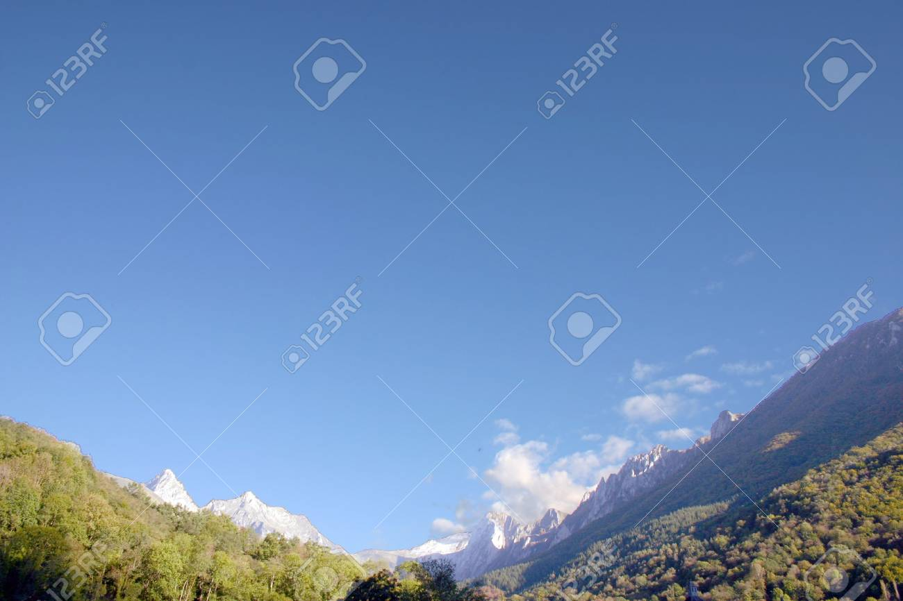 taken in the french Pyrenees, department Pyrenees atlantique, plenty of copy space Stock Photo - 610433