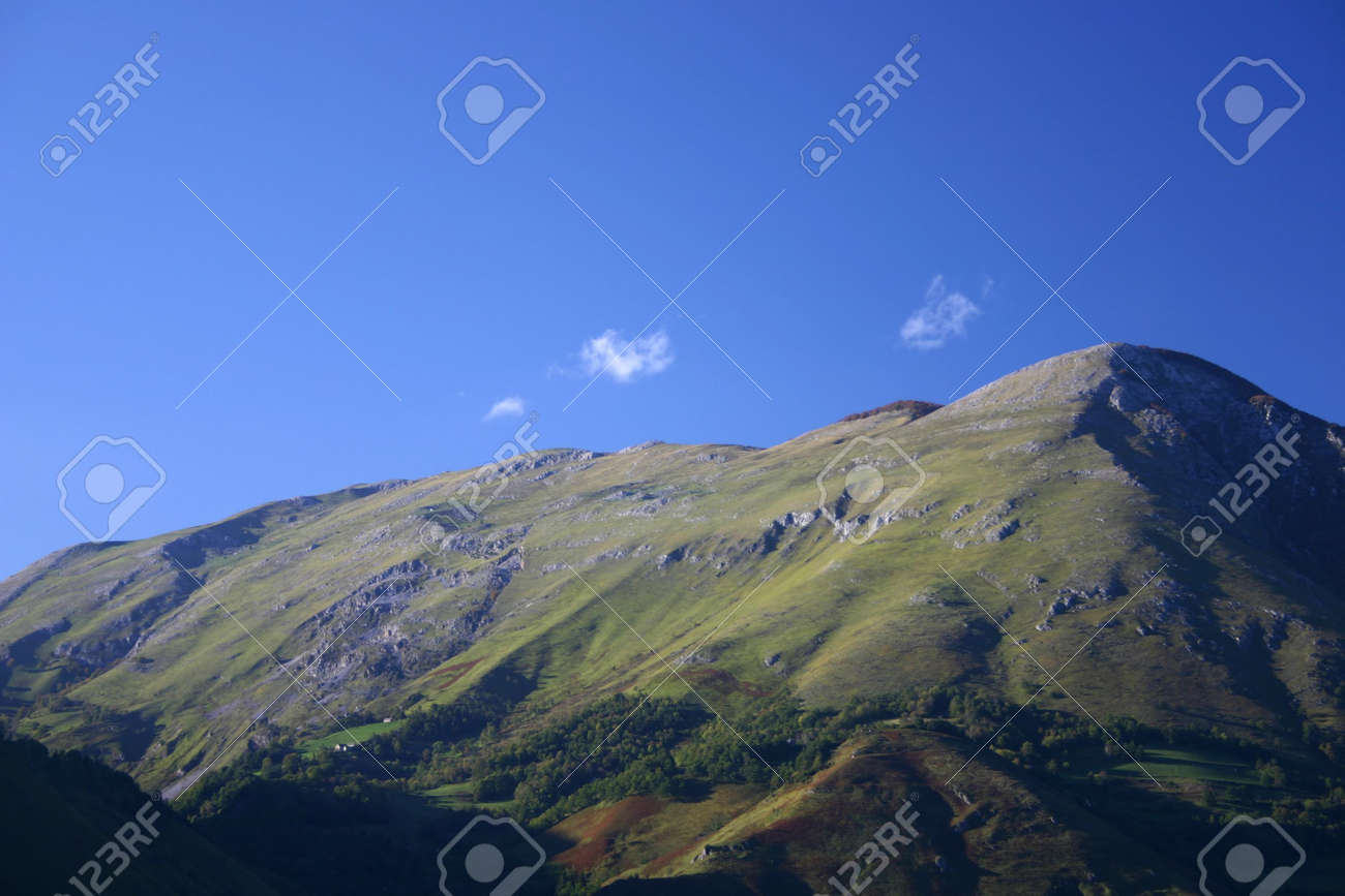 taken in the french Pyrenees, department Pyrenees atlantique, plenty of copy space Stock Photo - 610432