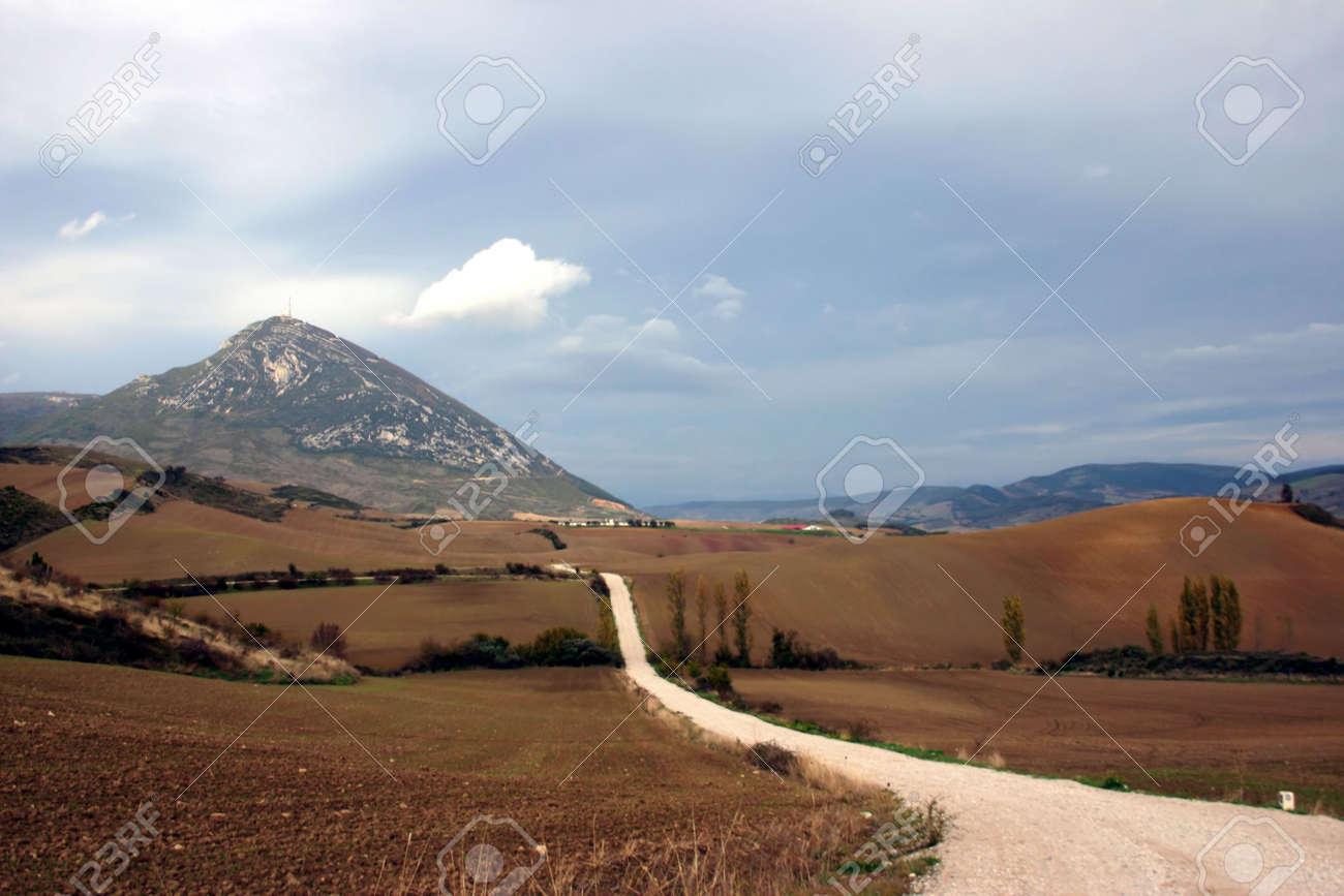 Camino de Santiago, long distance foot pilgrimage, Spain, Europe Stock Photo - 630915
