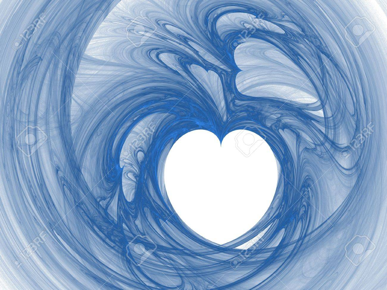 high res flame fractal in dark blue tones Stock Photo - 837088